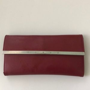 Guess - Red Leather Wallet
